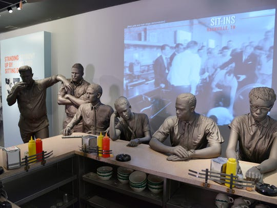 One museum exhibit focuses on the lunch counter sit-ins