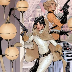 "Cover for the comic book ""Star Wars: Princess Leia No. 1."""
