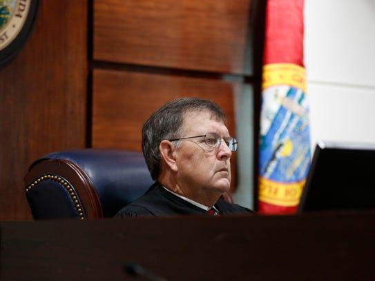 Leon Circuit Judge James Hankinson presides over the case in 2017.