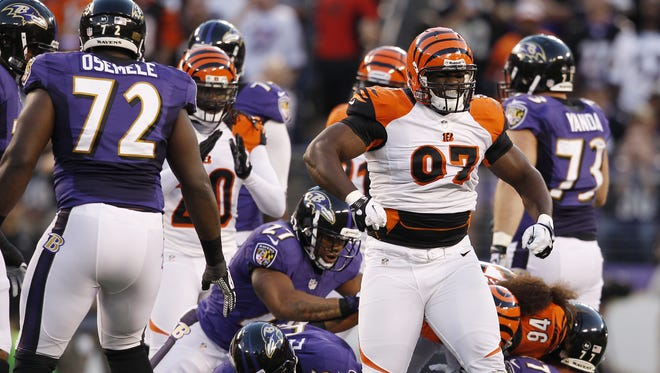 Defensive tackle Geno Atkins and the interior of the Bengals defensive line has gotten great inside pass rush thus far in 2015.