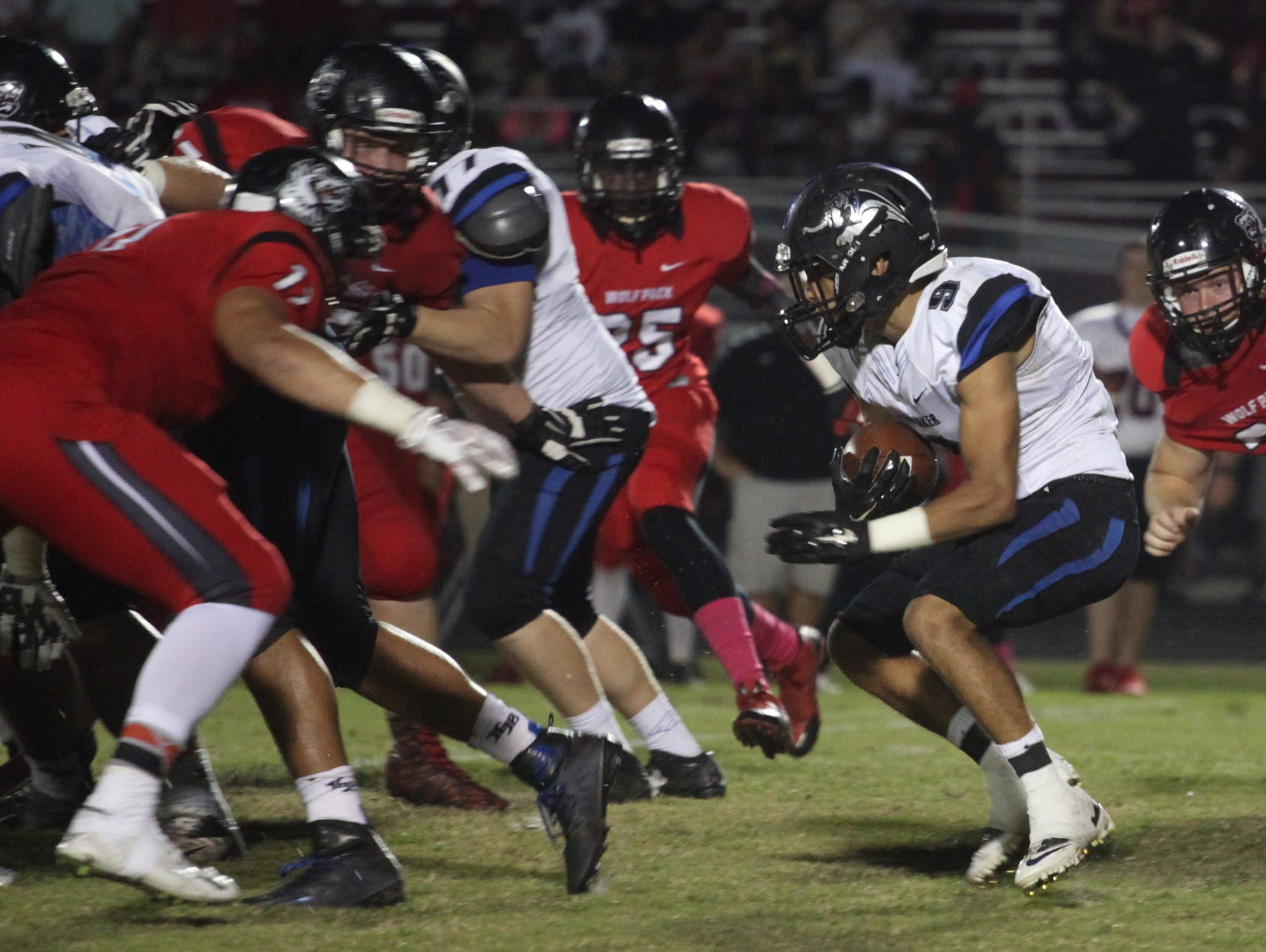 South Fort Myers and Ida Baker compete during a game at South Fort Myers on Friday night.
