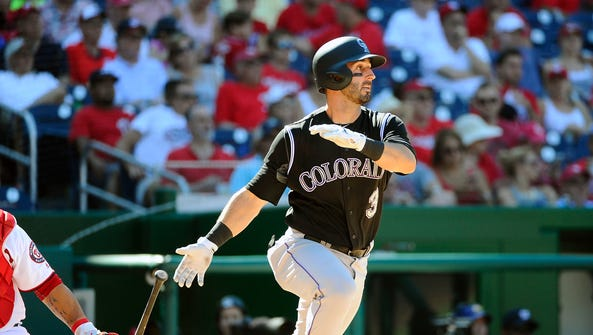 Aug 28, 2016: Colorado Rockies first baseman Daniel