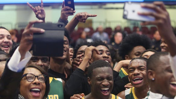 Ramapo players celebrate their emotional come from