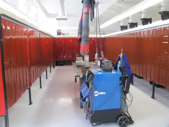 The welding lab unveiled Friday at Corning Community