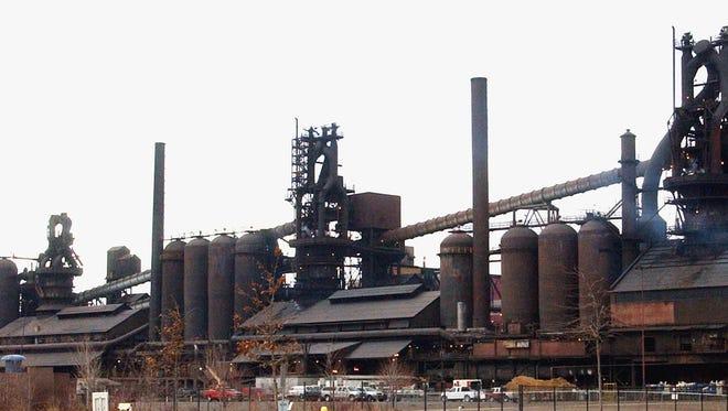 The Severstal steel plant in Dearborn is shown March 21, 2005.