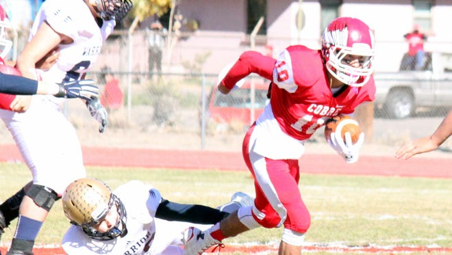 Cobre's Robert Rodriguez ran all over Ruidoso, and he will have to have the same kind of game for the Indians in the semifinals against Hatch Valley on Friday night.