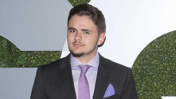 Prince Jackson with the fresh ink.
