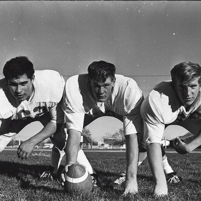 Former Poudre High School football players John Bustos,