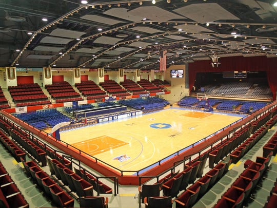 Westchester County Center's basketball court.