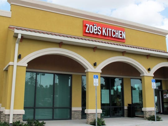 The area's first Zoes Kitchen is slated to open in Estero later this month.