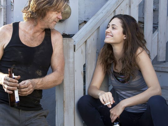 "William H. Macy and Emmy Rossum star in ""Shameless."""