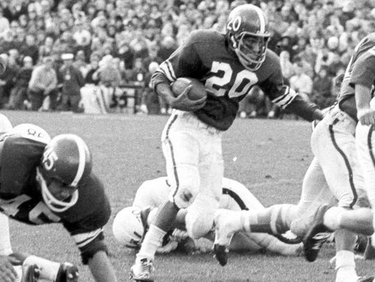 During his senior season in 1963, Sherm Lewis was named
