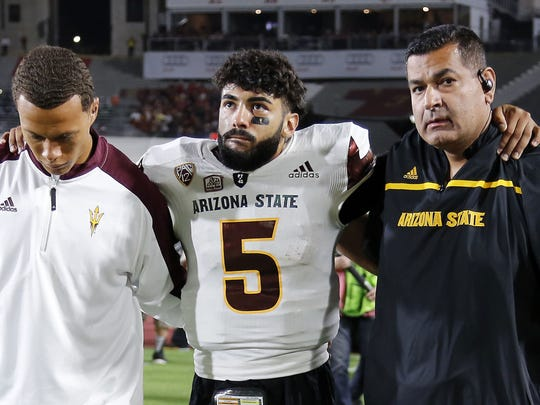 Manny Wilkins gets carried off the field.
