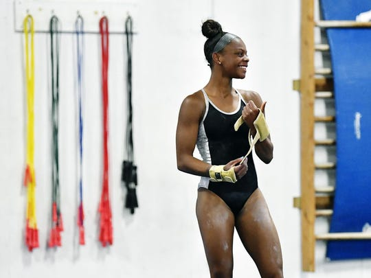 Trinity Thomas is world-class gymnast. She was a star