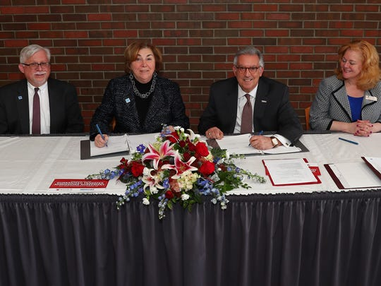 From left: Mark McCormick, Middlesex County College's