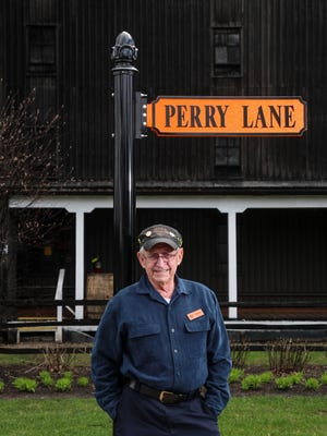 Carroll Perry started at Stitzel-Weller distillery in 1970 and worked in various jobs before retiring in 1999 but was urged to come back by the company to help serve as 'chief security ambassador' at the front gate. During daytime hours, his is the first face visitors will see.