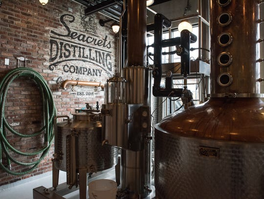 An interior view of Seacrets Distillery on Monday,
