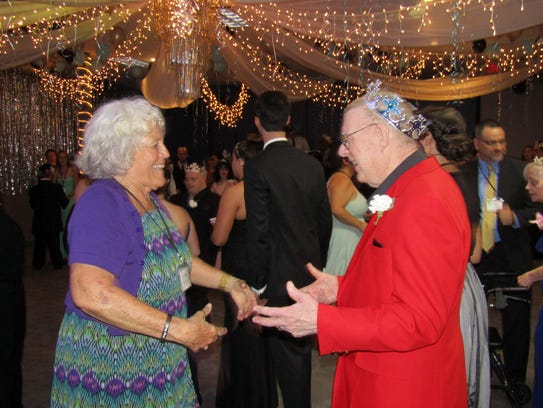 "Susan Meekins dances with Jim Ryan at the   ""Night"