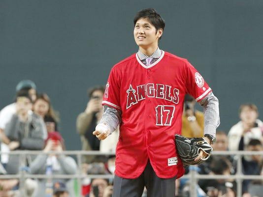 AP JAPAN BASEBALL OHTANI FAREWELL S BBO JPN