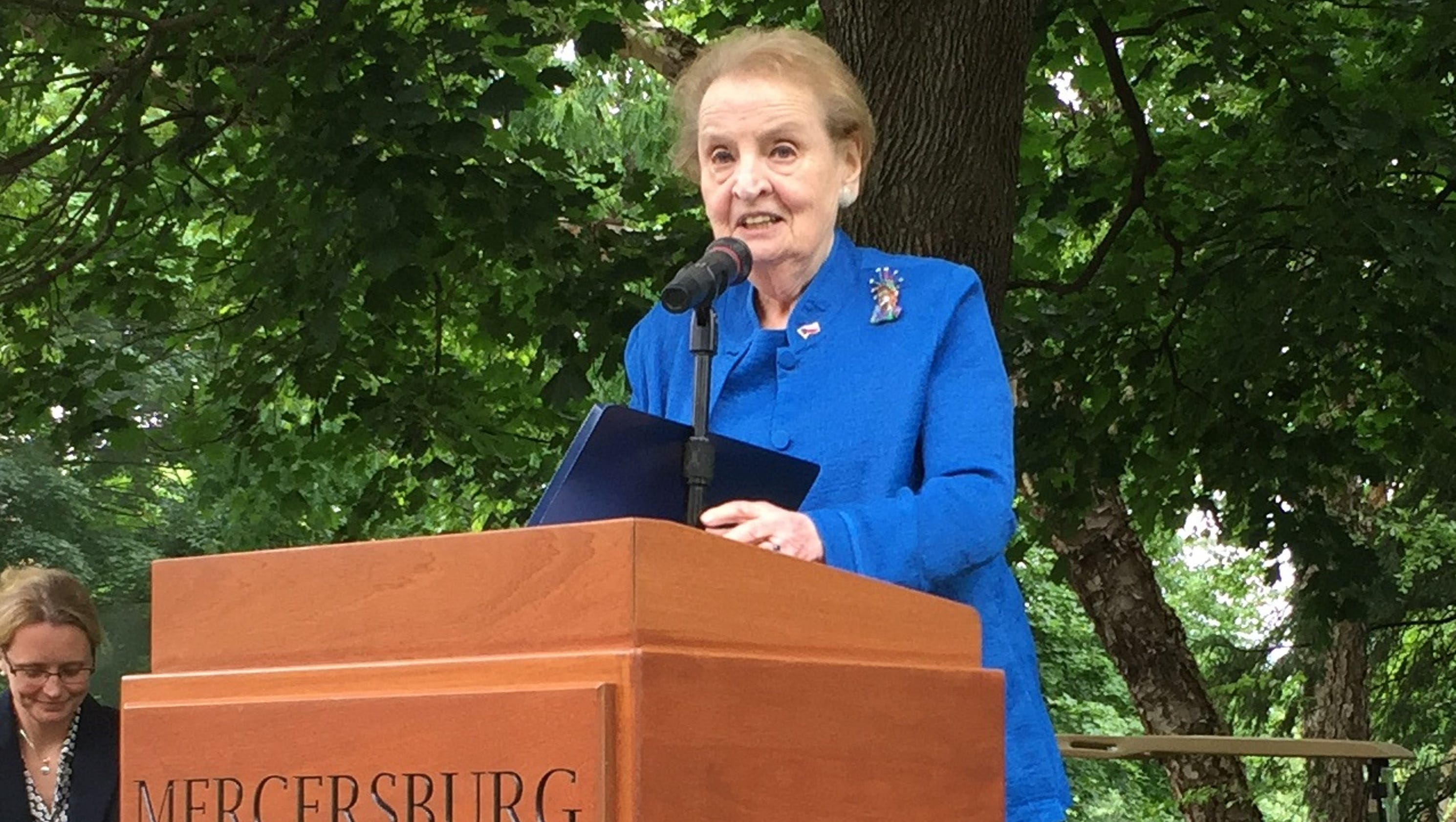 'American ideals and leadership matter' Madeleine Albright ...