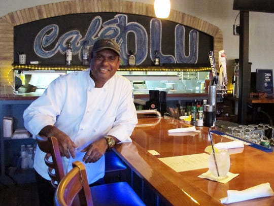 Rohan Moxam is the new executive chef at Café Blu,