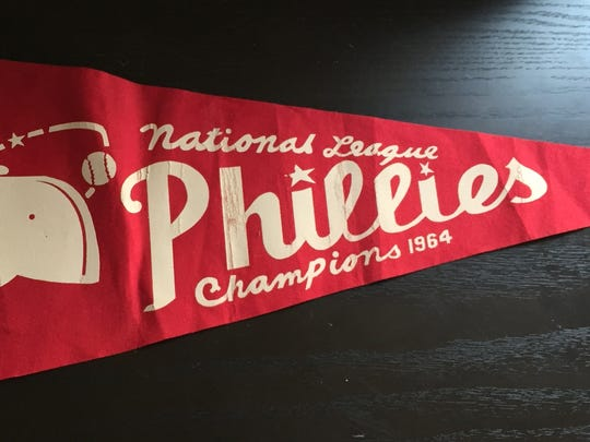 Carl Wolfson's father bought him this pennant at a Phillies game in September 1964. Alas, the National League Championship was not to be for the hometown team.