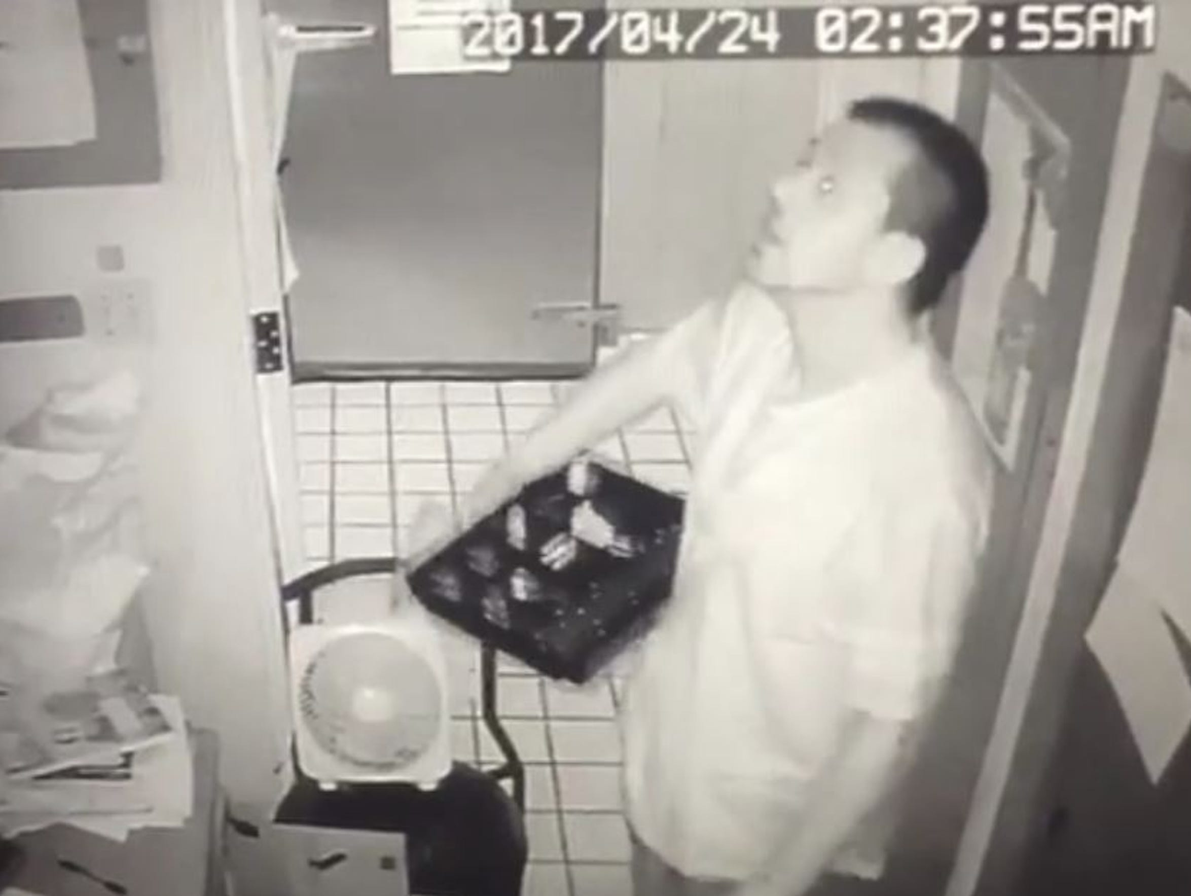 A burglar, identified by police as former Oscar's employee