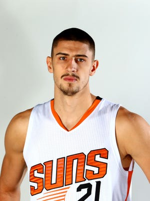 Sep 26, 2016: Phoenix Suns center Alex Len poses for a portrait during media day at Talking Stick Resort Arena.
