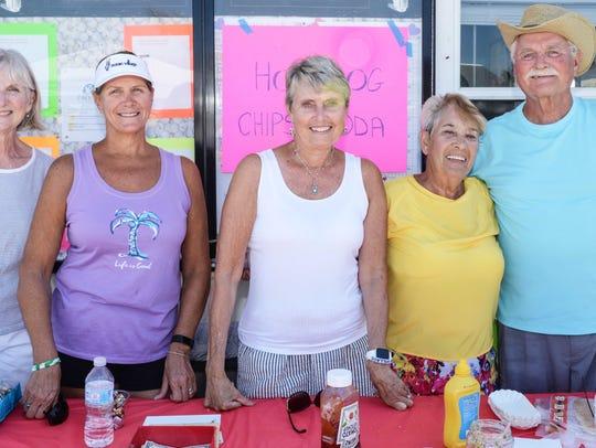 The Snacks & Hot Dog Crew LouAnn Counihan, left, Arlene