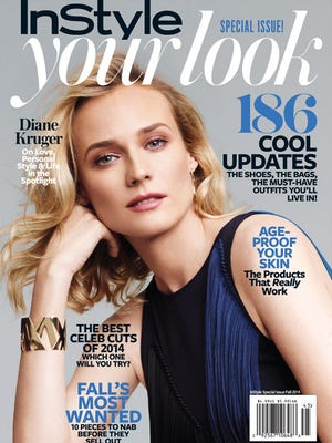 """Diane Kruger on the cover of """"InStyle"""" magazine."""