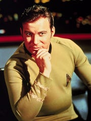 "William Shatner in character as James T. Kirk from the original televison program ""Strak Trek."""