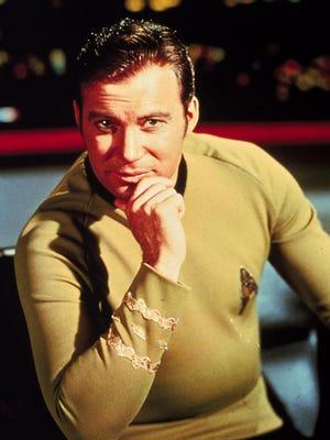 "William Shatner in character as James T. Kirk from the original televison program ""Strak Trek."""