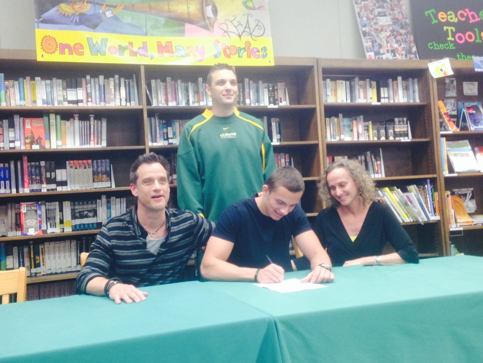 Reynolds senior Stone Fentzlaff has signed to play college football for Centre (Ky.).