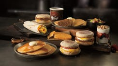 Hotcakes, Egg McMuffin, Sausage McMuffin with Egg,