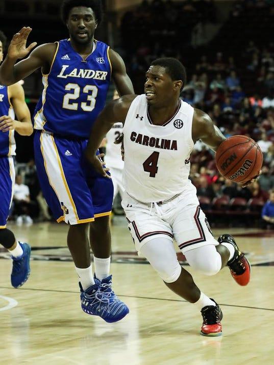 NCAA Basketball: Lander at South Carolina