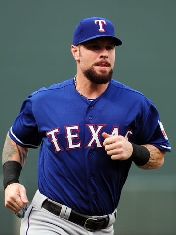 Josh Hamilton is batting .308 ini his first eight games