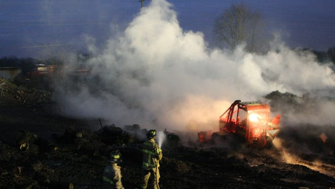 Milford firefighters, along with mutual aid from other communities, worked for three days to put out a fire at Your Way Property Services in Milford Township.
