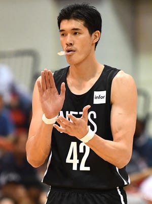 Forward Yuta Watanabe played for the Brooklyn Nets in the Las Vegas Summer League.