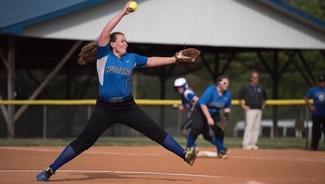 Former Smoky Mountain softball standout Micayla McCoy pitched the first no-hitter in school history for Georgia Highlands College on Saturday.