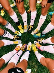 Members of the Cresskill girls varsity soccer team