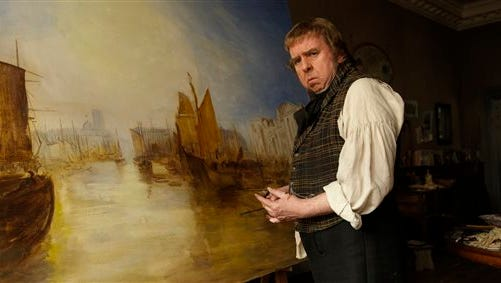"""In this image released by Sony Pictures Classics, Timothy Spall appears in a scene from """"Mr. Turner."""""""
