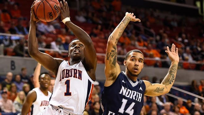 Auburn guard Jared Harper drives to the basket during the Tigers 83-66 victory over North Florida on Nov. 11 in the 2016-17 season opener.