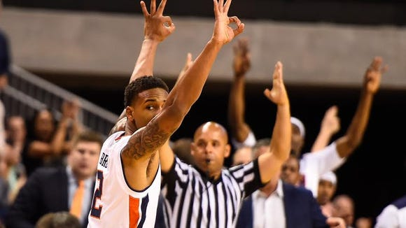 Auburn guard Bryce Brown led all scorers with 19 points on 5 of 10 shooting from beyond the 3-point arc in Auburn's 83-66 win over North Florida on Nov. 11.