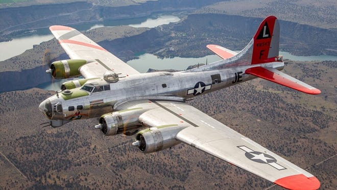 As the B-17 flies around Des Moines June 25 its famous silhouette and unique sound will draw a great deal of attention.