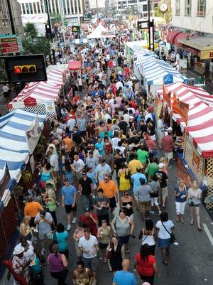 The crowd at Taste of Cincinnati.