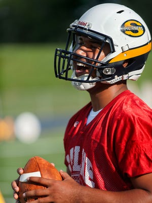 Saline quarterback Josh Jackson