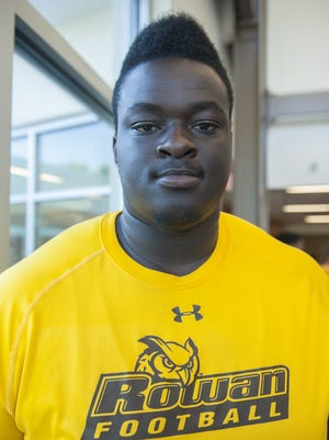 Buena graduate offensive lineman Darryl Guilford is looking to bring a mean attitude to the Rowan offensive line this season.