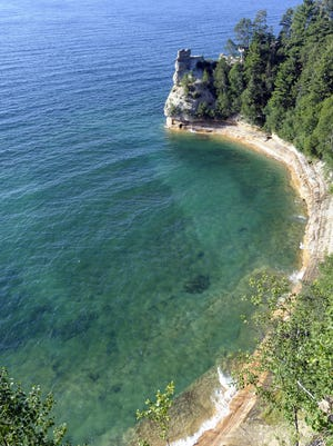 Pictured Rocks National Lakeshore, in the Upper Peninsula, set a visitation record this year.
