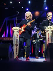 Ricky Skaggs is performing with his band for his fans during the Grand Ole Opry show at the Opry House July 24, 2015.