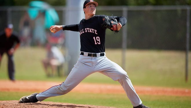 Former Jackson High School and Ball State baseball standout Kyle Nicolas was taken in the second round of the Major League Baseball draft by the Miami Marlins.